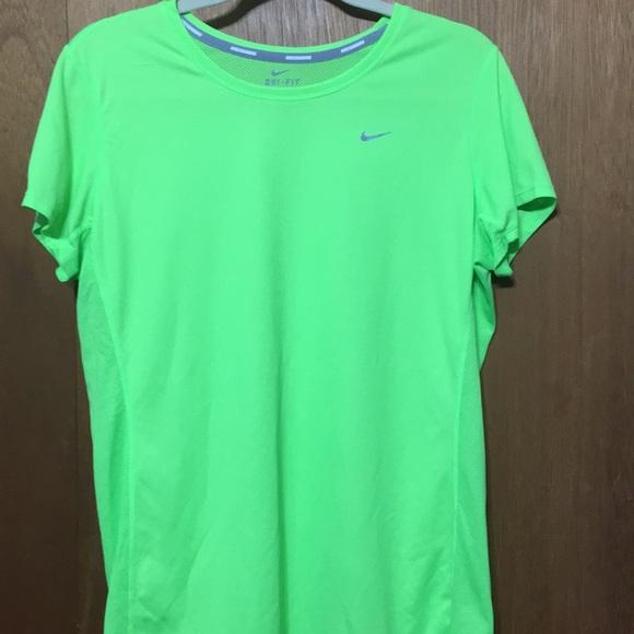 Nike Tops - Neon green shirt
